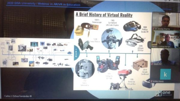 """International Webinar on """"Role of Augmented and Virtual Reality in Education"""""""