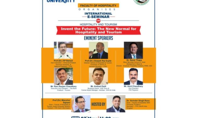 "International E-Seminar on ""Invent the Future: The New Normal for Hospitality & Tourism"""