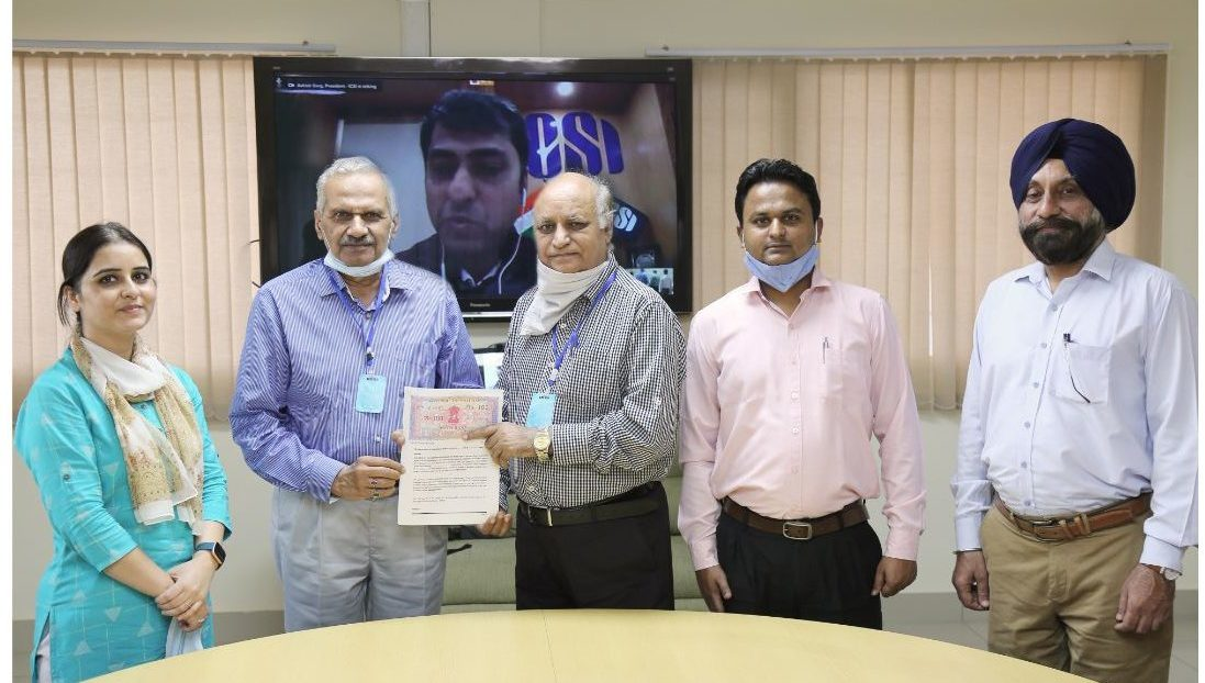 ICSI signed an MOU with GNA University