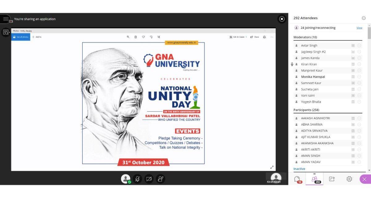 Virtual National Unity Day Celebration